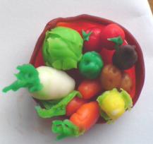 粘土で野菜2
