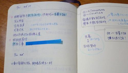 例文を整理する
