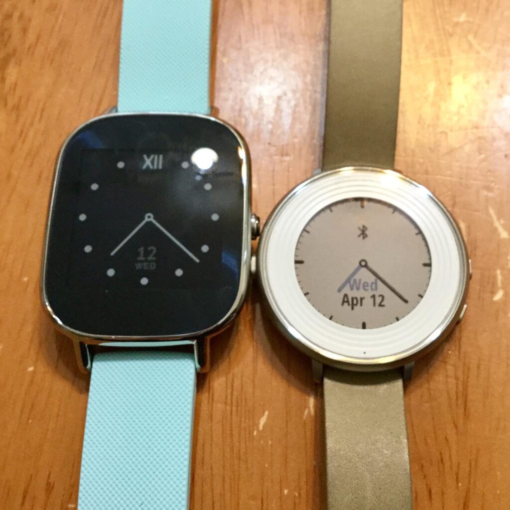 Zenwatch とPebble Time Round