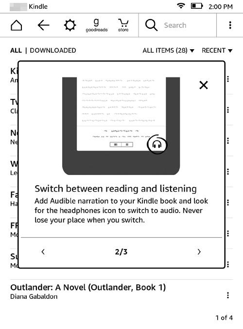 KindleでAudibleを再生