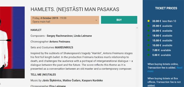 リガ オペラ チケット購入方法