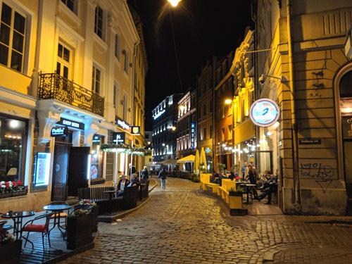 リガ 旧市街 夜景