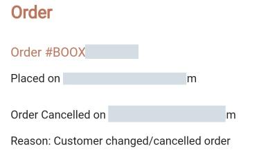 BOOX キャンセル方法